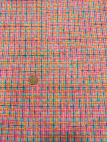 Princess boutique 825 pink purple check 100/% Cotton Quilt craft Fabric benartex