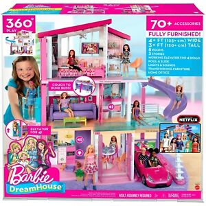 2018 Barbie Dreamhouse Playset With 70 Accessory Pieces New