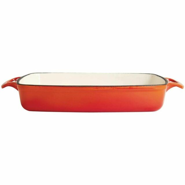 New Gasmate Cast Iron Roasting Dish 240mm with Lid BDC240
