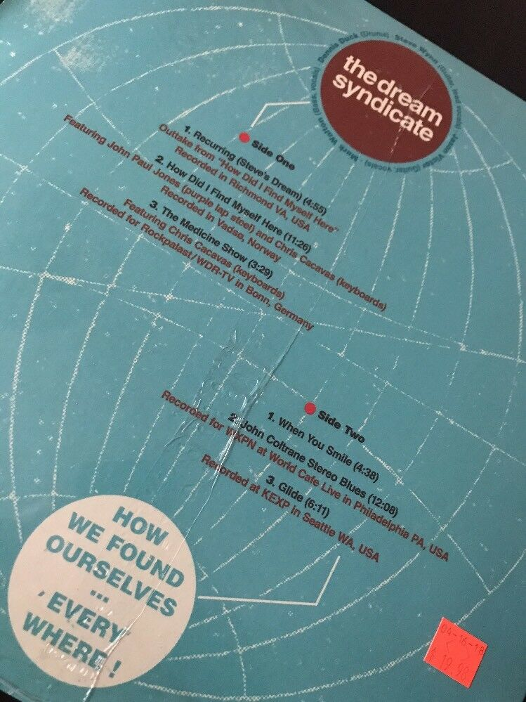 6 Cafe Stoelen.Dream Syndicate How We Found Ourselves Lp Vinyl Rsd 2018 Record