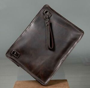 3117fbc9d Vintage Men's Leather Messenger Shoulder Wallet Envelope Clutch Bag ...