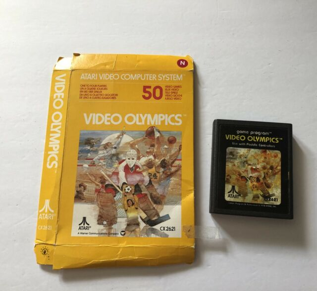 Video Olympics Atari 2600 Cart & Box TESTED CX2621
