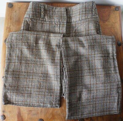 **pantalon A Carreaux En Laine Vintage Massimo Dutti** Val. 60 Euros