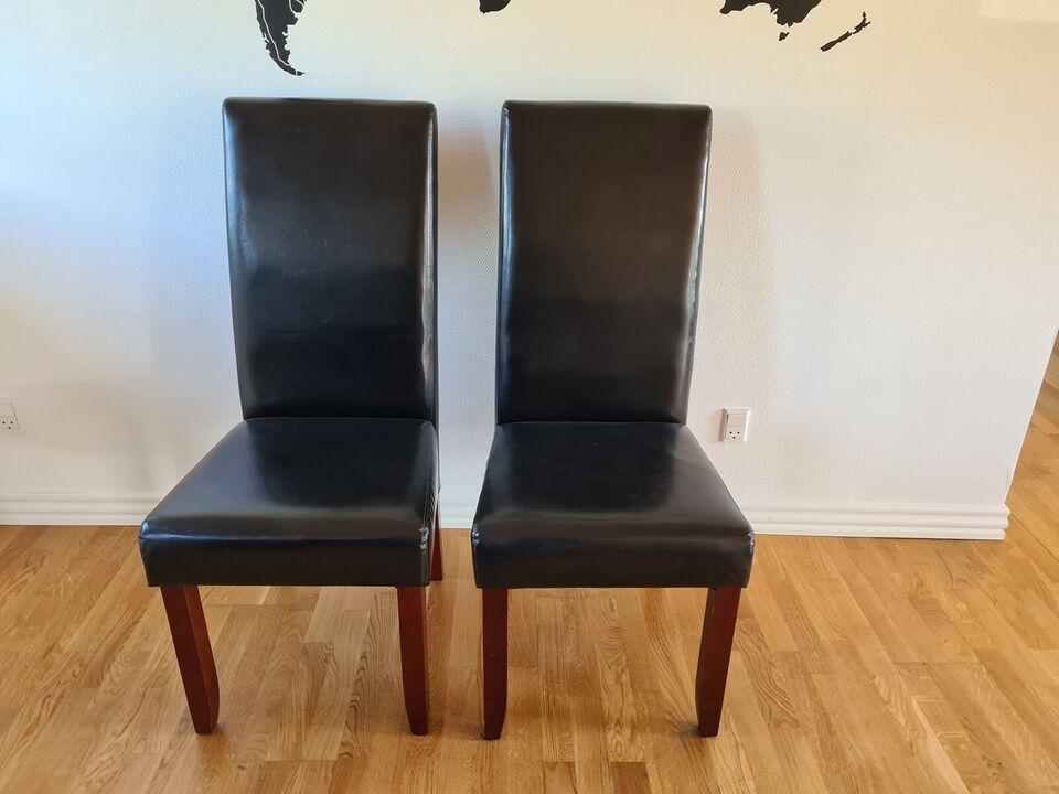 Spisebordsstol, Trælæder – dba.dk – Køb og Salg af Nyt og Brugt
