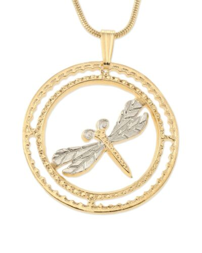 """Dragonfly Pendant and Necklace # 890 Dragonfly Medallion Hand Cut,1 1//8/"""","""