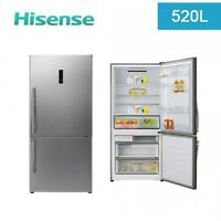 Hisense 520l Frost Free Stainless Steel Bottom Mount Refrigerator