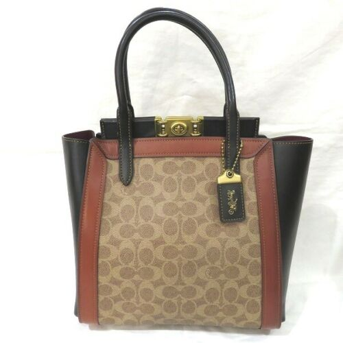 COACH Signature Troop 78487 Bag Handbag Shoulder B