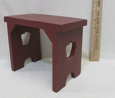 Awesome Wood Doll Bench Table Wooden Stool Furniture Red Apple Cut Out Country Accent 49696538169 Ebay Caraccident5 Cool Chair Designs And Ideas Caraccident5Info
