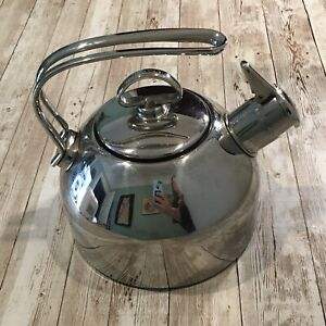 Chantal Stainless Steel Tea Kettle SL37-19 1.8 Qt NO WHISTLE!!!