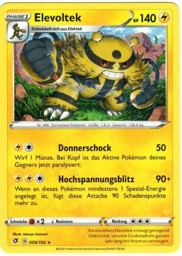 Boosterfrisch Pokemon Clash der Rebellen Elevoltek 059//192 Rare