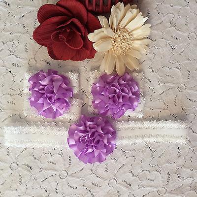 Flor de bebé y encaje pulseras Y Diadema-Elástico