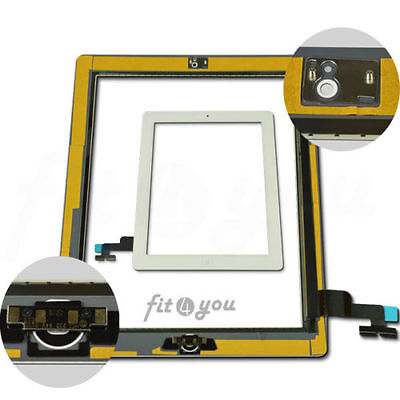 For IPAD 2 White Touch Screen Replacement Digitizer Lcd Front Glass  Home button
