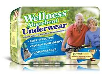 72  Wellness Underwear, Pullons, Medium, Absorbent, Disposable, Case, M or F