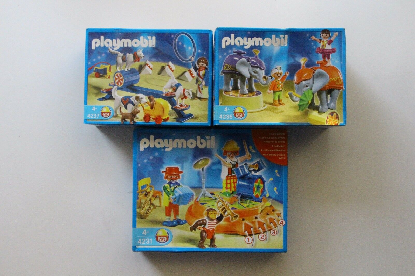 PLAYMOBIL  4231+4235+4237 CIRCUS  MISB NEW