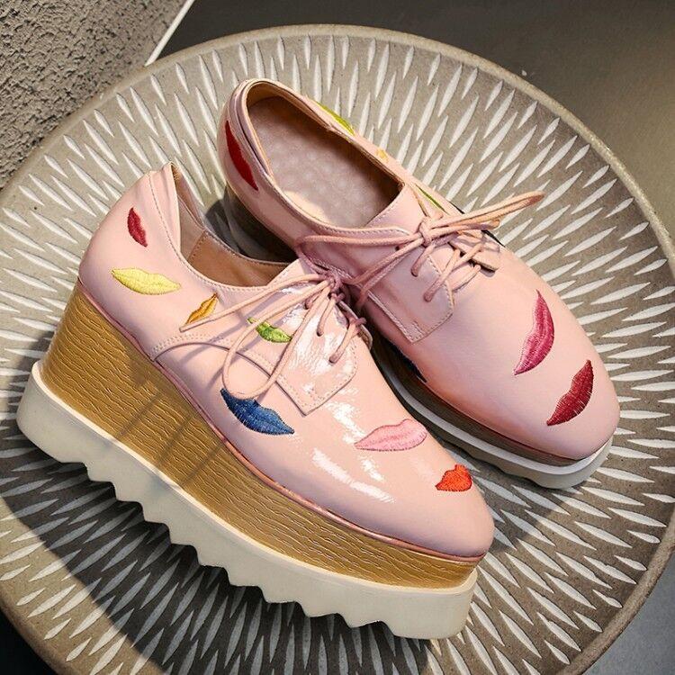 sconto prezzo basso donna Fashion Candy Colore Lace Up Oxford scarpe Wedge Heels Heels Heels Platform scarpe Dimensione  spedizione veloce e miglior servizio