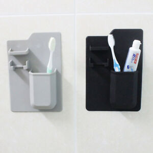 Silicone-Brosse-a-dents-Holder-Salle-de-bain-Organisateur-Dentifrice-rasoir-support-de-stockage