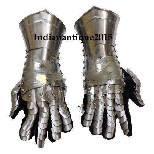 Armour Gloves Warrior Medieval Knigh Gauntlets Combat Gauntlet Metal Hand Glove