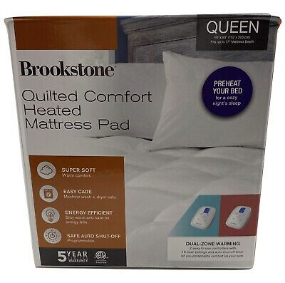 Brookstone® Quilted Comfort Heated Queen Mattress Pad ...