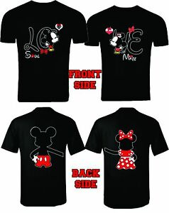 986c1b1fb0 MICKEY AND MINNIE T-SHIRTS VALENTINE MATCHING COUPLES CUTE LOVE SOUL ...