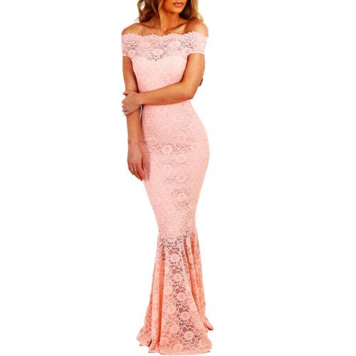 Vestito donna lungo abito sirena inserti PIZZO aderente elegante nuovo DL-2093