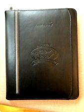 Black Padfolio Business Zippered Portfolio Notebook Binder Organizer Leeds