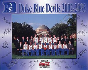 Image Is Loading 2002 2003 DUKE BLUE DEVILS 8X10 TEAM PHOTO