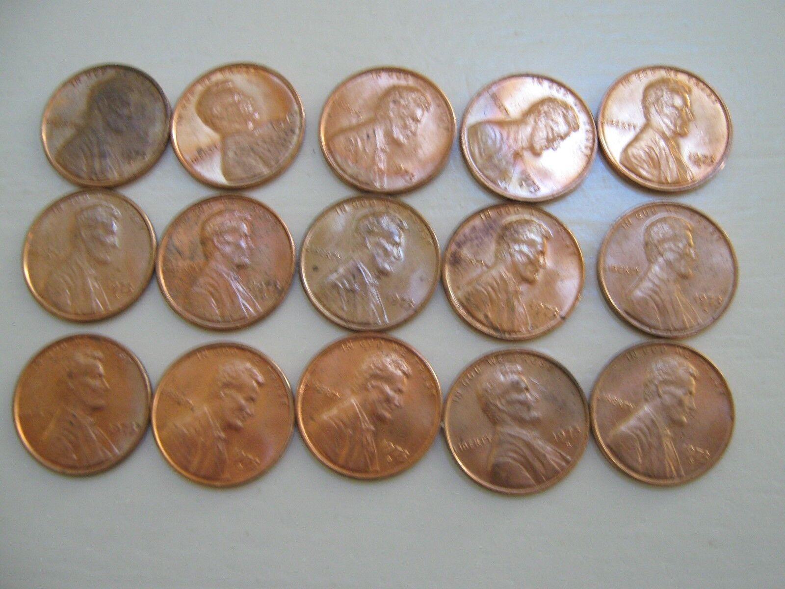 U.S. Mint , Mini Mint Bag , 15 Lincoln Cents , 1973 P-D