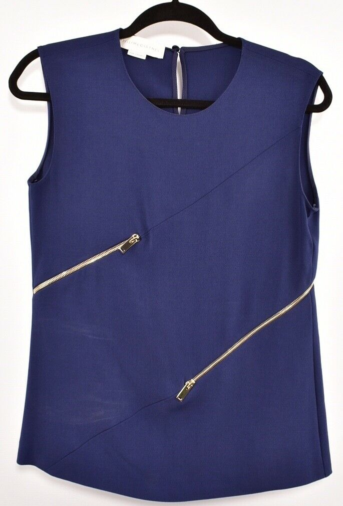 STELLA MCCARTNEY Woherren Navy Top with Zippers, Größe   IT 40