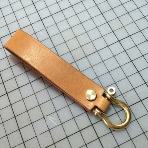 2 X Brass D Shackle Clasp Ring for Keyring Key Pouch Belt Loop Replacement New