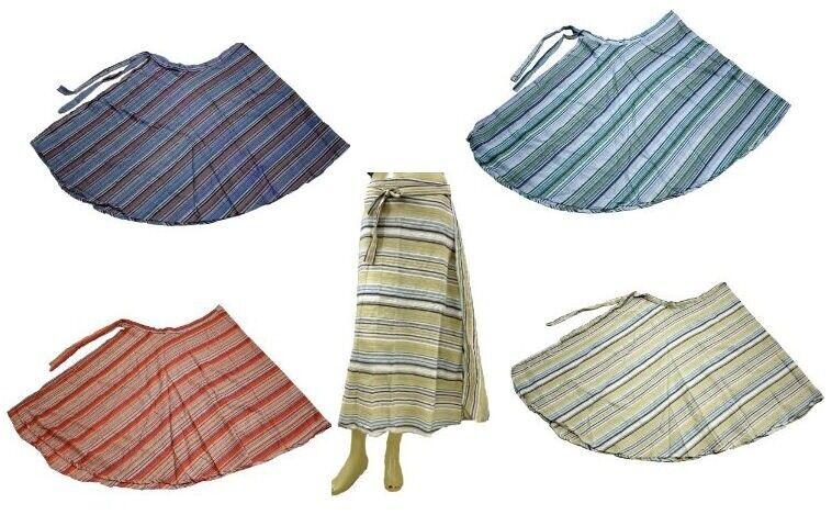 10 Hippie Cotton Printed UK Boho Long Wrap Around Skirts Wholesale Lot