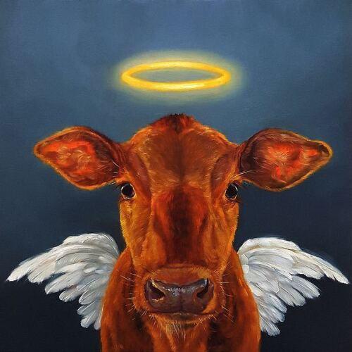Holy Cow Lucia Heffernan Art Print 17.875x18