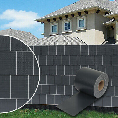 70m Sichtschutz Zaunfolie Schwarz PVC Windschutz Doppelstabmatten neu.haus