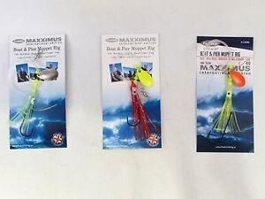 6 Packs Lumi Max Hokki Shrimp 3 Hook Size 7//0 Fishing Mackerel Cod Feathers Lure