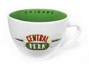 Boxed Cappuccino Coffee Gift Mug - Friends Central Perk WHITE