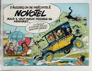 FRANQUIN-Gaston-a-Novotel-Album-publicitaire-1980-Tres-bel-etat