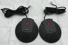 2x Polycom Soundstation Ex External Microphones 2201 00698 001