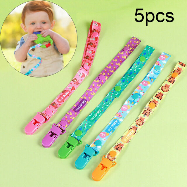 5PCS Baby Pacifier Dummy Clip Nipple Holder Kids Soother Teething Toys Holder