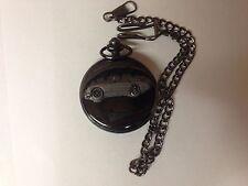 Austin Healey Frog Eye Sprite ref16 emblem polished black case mens pocket watch