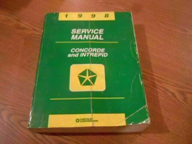 1998 Chrysler Concorde Dodge Intrepid Shop Service Manual