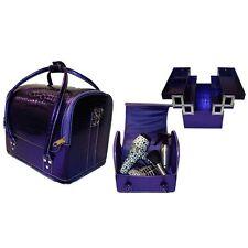 Hair Tools Professional Hairdressers/Beauty Kit Bag/Tool Case - Zebra & Purple