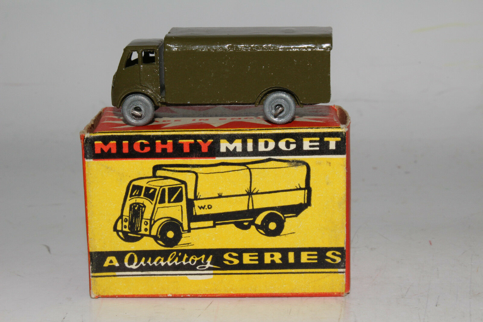 BENBROS Diecast Angleterre  30 ARMY WAGON CAMION MILITAIRE, excellent, Boîte, Lot B