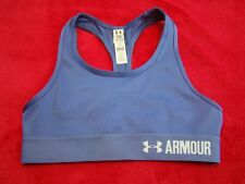 Under Armour Girl/'s Heat Gear Blue Athletic Sports Bra Size Youth Small