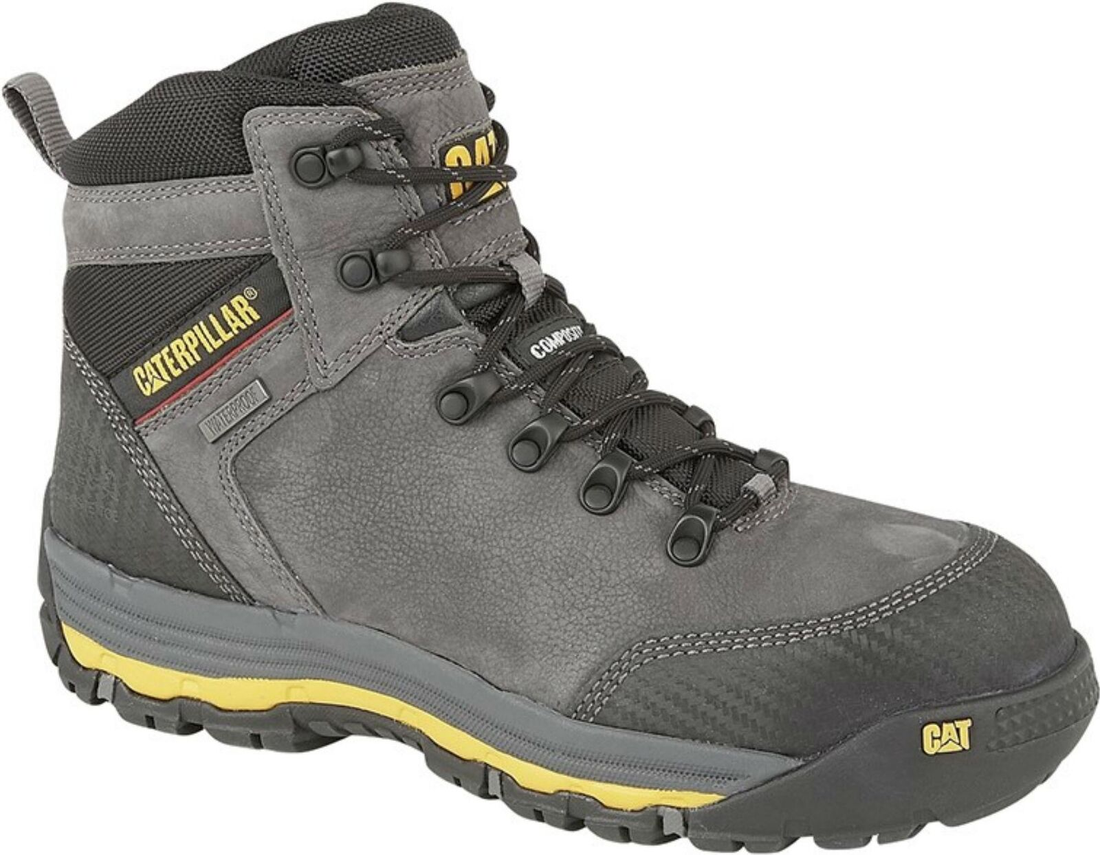 Cat ® MUNISING Mens Lace Up Waterproof Safety S3 SRC SRC SRC Ankle Work Boots Grey 0385e6