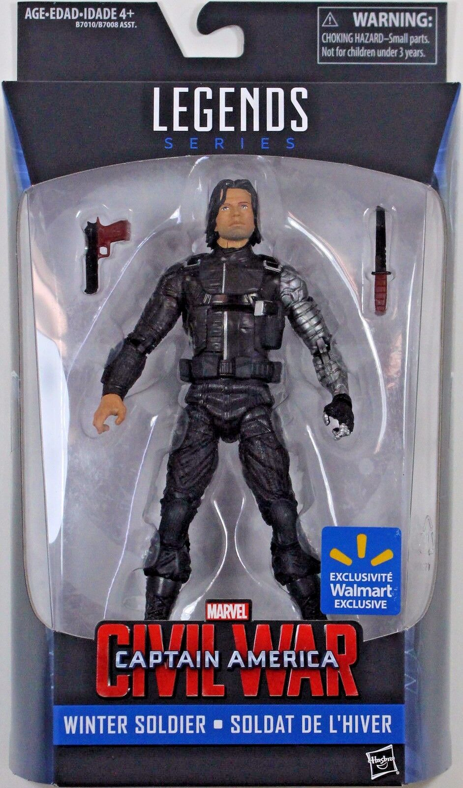 WINTER SOLDIER ( 6 ) HTF MARVEL LEGENDS LEGENDS LEGENDS ( WALMART ONLY ) CIVIL WAR azione cifra 6b9c04