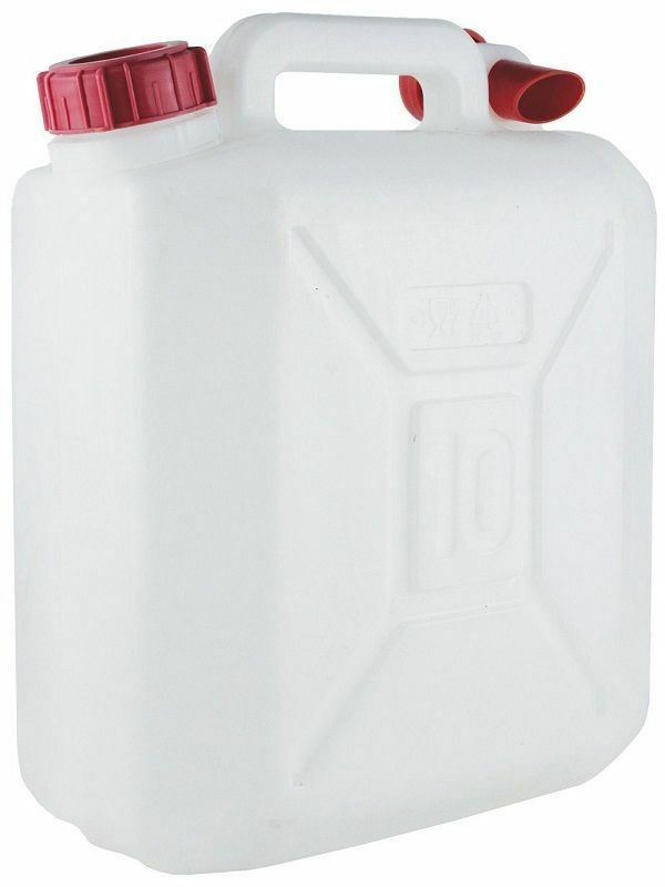 New 10 Litre Food Grade Plastic Water Container with Carry Handle
