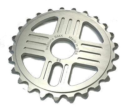 Neptune Helm BMX Aluminum Sprocket 43t Silver 19mm Chainwheel USA Made