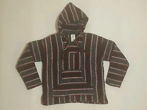 Details about Baja Hoodie Surfer Poncho Pullover Jacket Red Black Unisex  Mens Large (L) EUC
