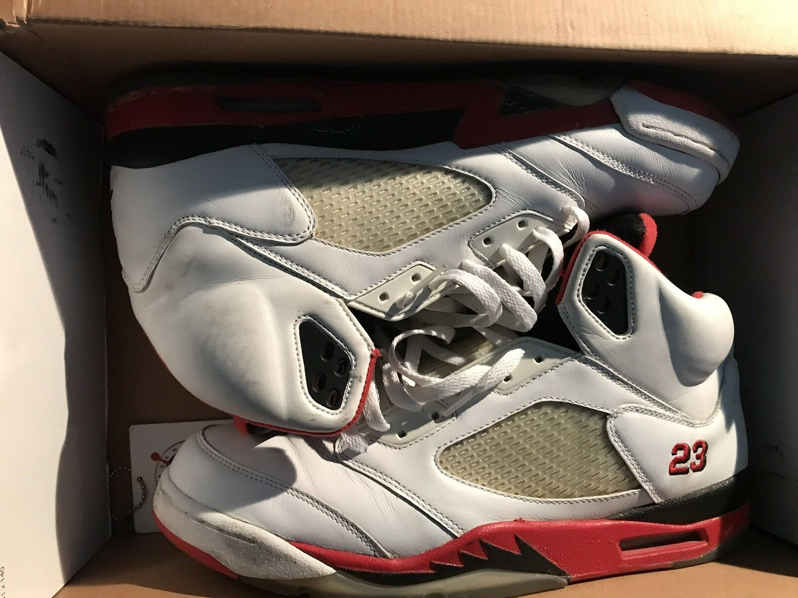Jordan 5 fire red size 13