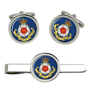King-039-s-Division-British-Army-Cufflinks-and-Tie-Clip-Set