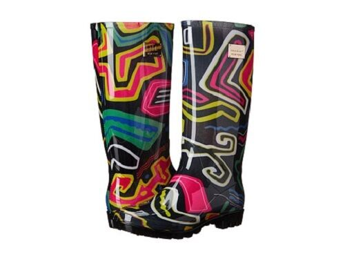 New NIB Nicole Miller New York Rainy Day LONG RAIN BOOTS CHOOSE COLOR SIZES